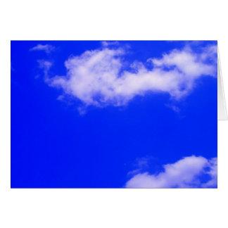 Klarer blauer Himmel und weiße Wolken Karte
