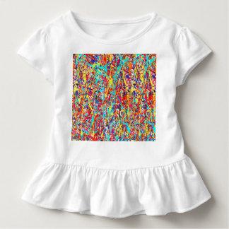 Klarer Farben-Spritzer abstrakt Kleinkind T-shirt