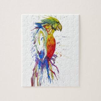 Klarer gemalter Papagei Puzzle