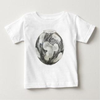 Klarer Kunst-Dekovase mit geätztem schwarzem Baby T-shirt