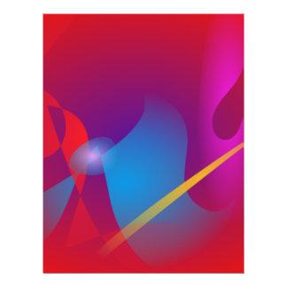 Klarer roter einfacher abstrakter Entwurf Flyerdesign