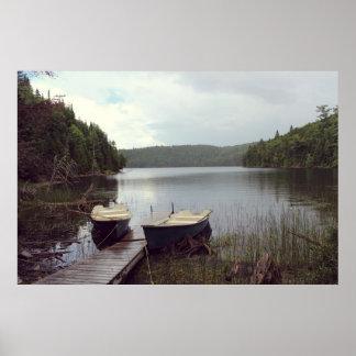 Klarer See am Wasser Poster