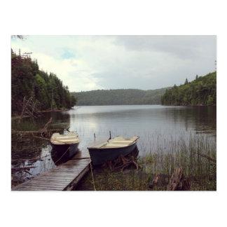 Klarer See am Wasser Postkarte