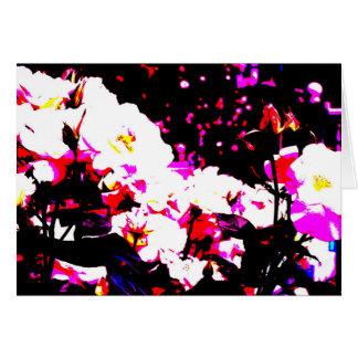 Klares Blumenbild-Grußkarte Teil 1 Karte