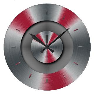 Klares Burgunder-Ton-Farbergänzen Uhr