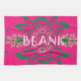 Klares rosa lila Schattenmit blumenmonogramm des Handtuch