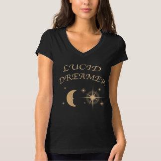 Klares träumendes Hemd des Halses V der Frauen T-Shirt