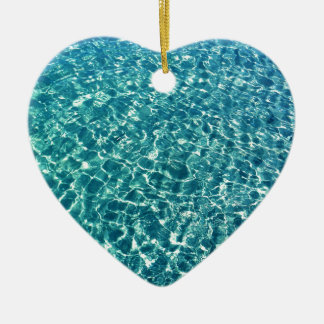 Klares Wasser-Blau Keramik Ornament