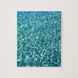 Klares Wasser-Blau Puzzle
