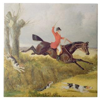 Klärung einen Abzugsgraben, 1839 (Öl auf Platte) Große Quadratische Fliese