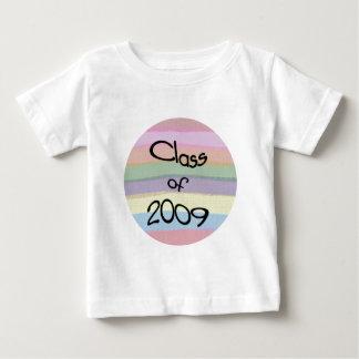 Klasse 2009 Pastell-Drehungs-des runden Baby T-shirt