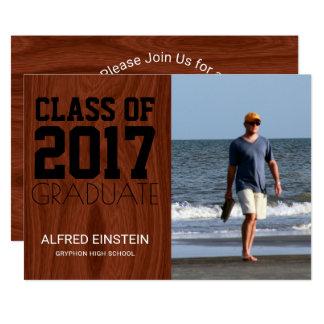 Klasse 2017 Foto-Abschluss-des Party des 12,7 X 17,8 Cm Einladungskarte