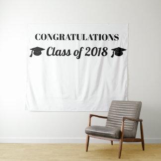 Klasse 2018 des schwarzen Foto-Hintergrundes der Wandteppich