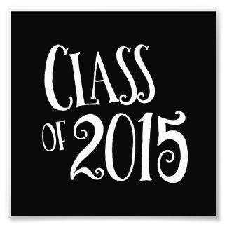 Klasse Abschluss-anwesenden Vintagen Textes 2015 Foto