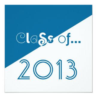 Klasse Absolvent-Einladungs-sauberen Spaß-Textes Quadratische 13,3 Cm Einladungskarte