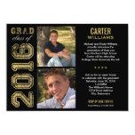 Klasse der Abschluss-Party Einladungs-  von 2016 12,7 X 17,8 Cm Einladungskarte