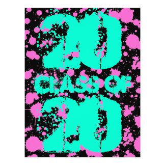 Klasse der Graffiti-Kunst-Schwarzes Fuschia 21,6 X 27,9 Cm Flyer