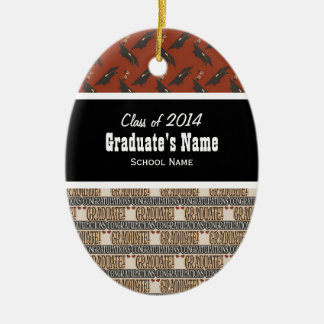 Klasse der Verzierung des Abschluss-20xx Ovales Keramik Ornament