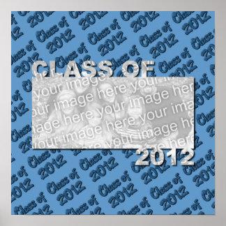 Klasse des 2012 herausgeschnittenen Foto-Rahmens - Plakatdruck