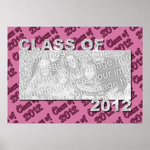 Klasse des 2012 herausgeschnittenen Foto-Rahmens - Poster