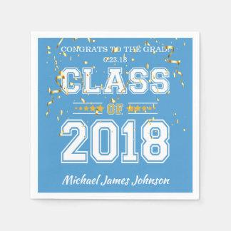 Klasse des Absolvent-Party 2018 hellblau und des Papierserviette