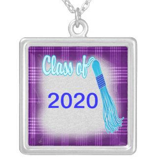 Klasse des karierten Abschluss-Sets Versilberte Kette