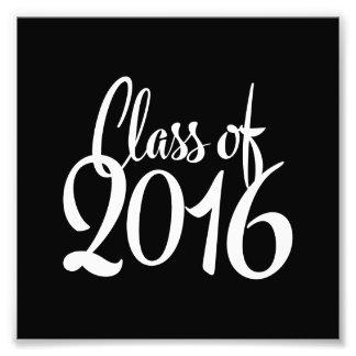 Klasse des Retro Abschlusses der Typografie-2016 Kunstfotos