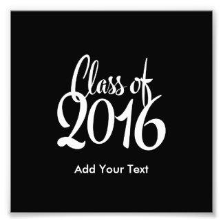 Klasse eleganten Retro Abschlusses 2016 Fotografischer Druck