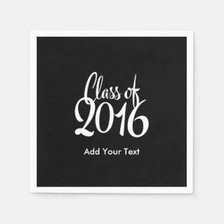 Klasse eleganten Retro Abschlusses 2016 Serviette
