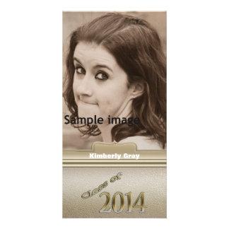 Klasse Goldpersonalisierten Abschluss-Fotos 2014 Individuelle Photo Karten