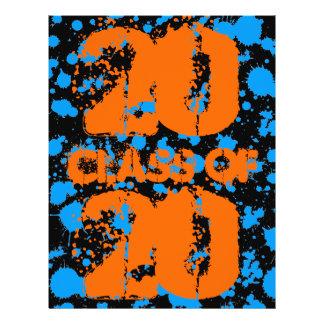Klasse Graffiti-Kunst-Schwarz-der blauen 21,6 X 27,9 Cm Flyer
