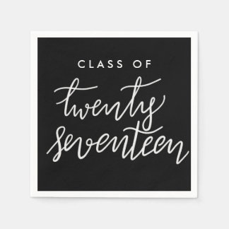Klasse handgeschriebenen Absolvent zwanzig Serviette