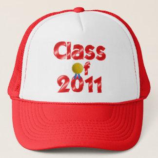 Klasse roten justierbaren Hutes 2011 Truckerkappe