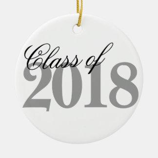 Klasse Schwarz-weißen Absolvent-Jahres 2018 des Keramik Ornament