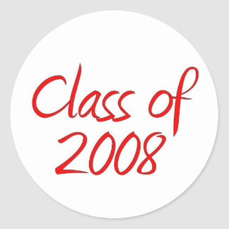 Klasse von 2008 runder aufkleber