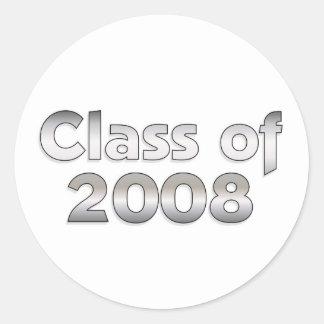 Klasse von 2008 - silberner Aufkleber