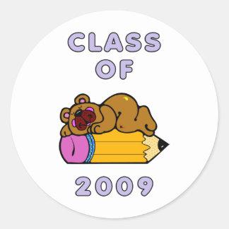 Klasse von 2009 runder aufkleber