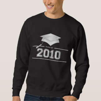 Klasse von 2010 - silberne Kappen-Abschluss-T - Sweatshirt