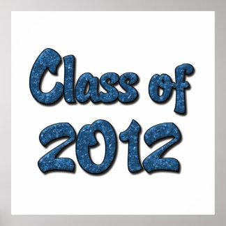 Klasse von 2012 - Blau Posterdruck