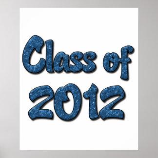 Klasse von 2012 - Blau Poster