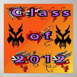 Klasse von 2012 - Schädel-Plakat