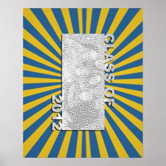 Klasse von 2012 schnitt Foto-Rahmen - blaue Goldex Posterdruck