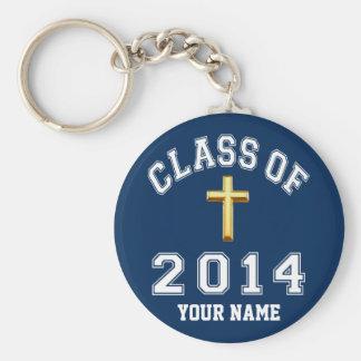 Klasse von 2014 christlichem Kreuz Schlüsselanhänger