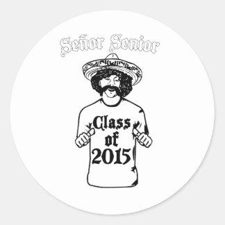 Klasse von 2015 runder aufkleber