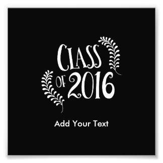 Klasse von 2016 gotischen Schwarzweiss Fotodruck