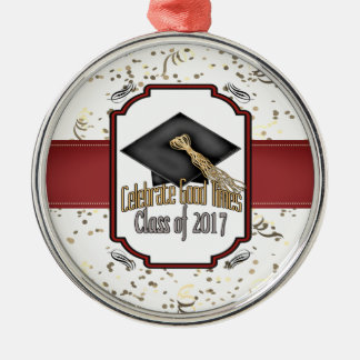 Klasse von 2017 feiern gutes silbernes ornament