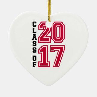 Klasse von 2017 keramik ornament