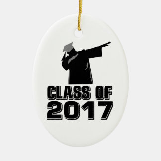 Klasse von 2017 ovales keramik ornament