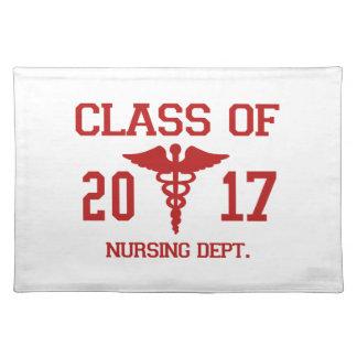 Klasse von 2017 pflegenabteilung tischset
