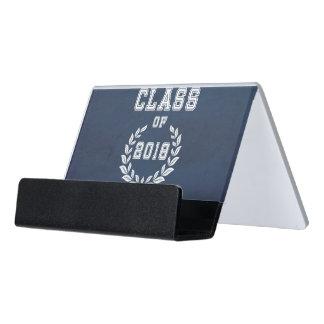 Klasse von 2018 Schreibtisch-Visitenkartenhalter